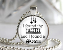 Theatre Lover Pendant Necklace or Keychain
