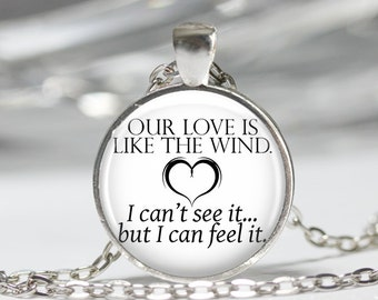 A Walk to Remember Quote Pendant Necklace or Keychain