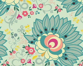 Euphloria Viridian fabric (SOLD in 1/2 YARD INCREMENTS) From Rapture by Pat Bravo (Art Gallery Fabrics)