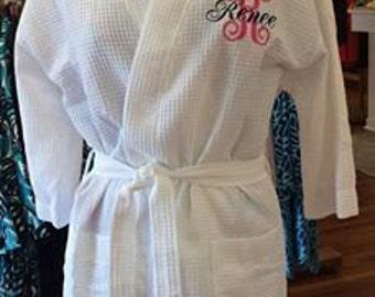 Personalized Waffle Robe