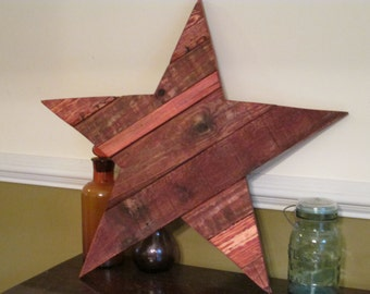 Recycled Wooden Special Stain Star