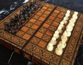 backgammon chess jewelry box