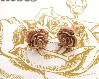 Gold Rose Studs