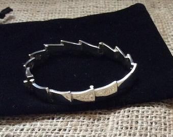 Sigi Pineda Sterling Silver Modernist Bracelet c 1960