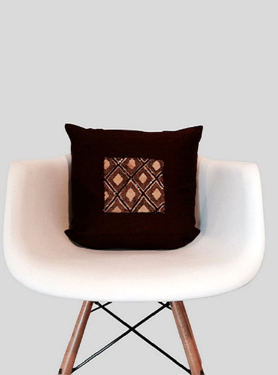 Modern Glam Pillows : Modern Kuba Glam Silk 18-inch-Square Pillow Cover by MAIDDesign