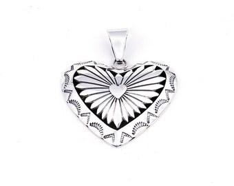 Henry Yazzie Large Navajo Heart Pendant