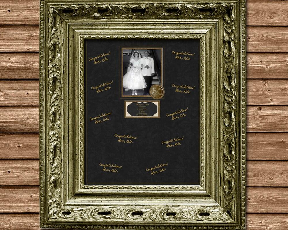 50th Wedding Anniversary Gift Ideas Gold: 50th Anniversary Signature Mat Gold Anniversary Party 50th