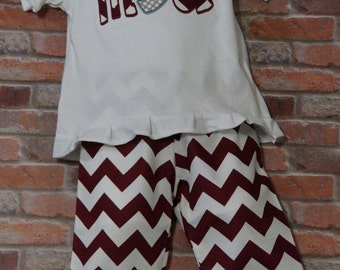 Mississippi State Shirt and Ruffle Pants