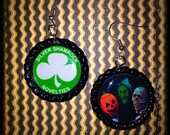Halloween 3 Season of the Witch themed earrings