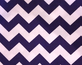 Chevron Stripes - Purple and White Fabric