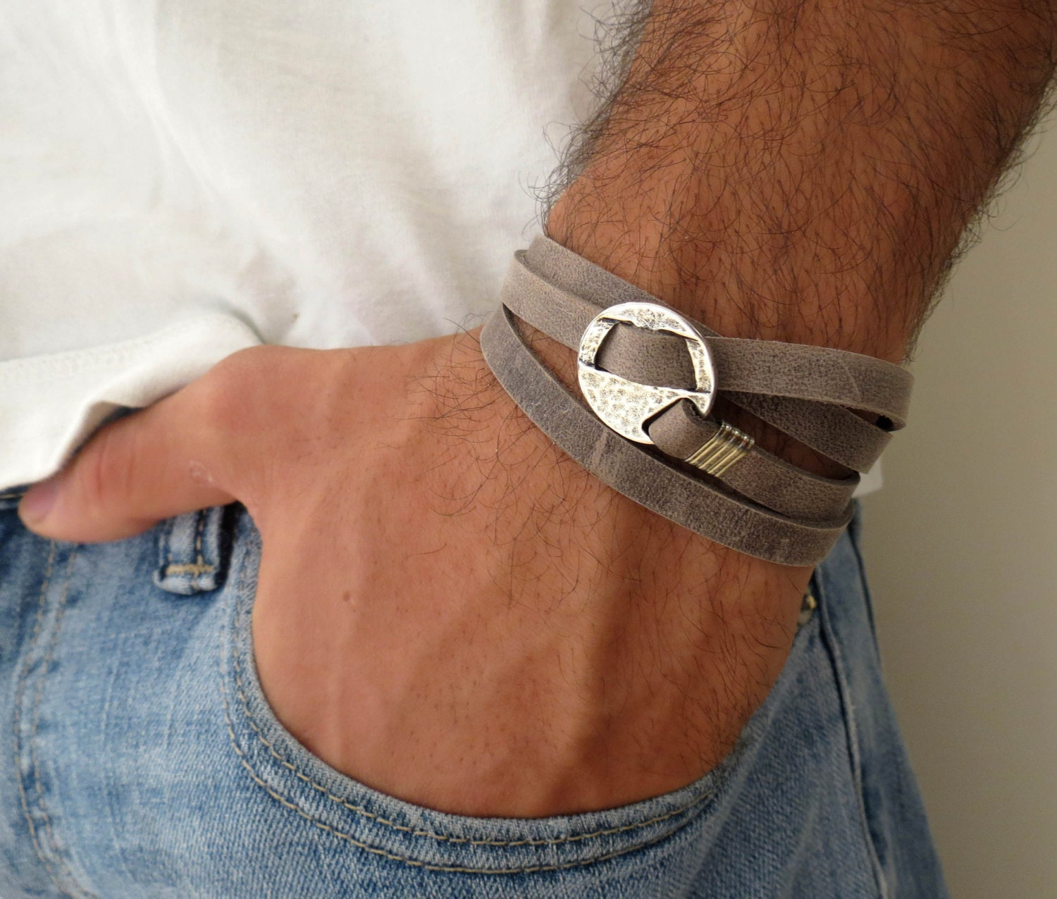 leather bracelet for men - photo #45