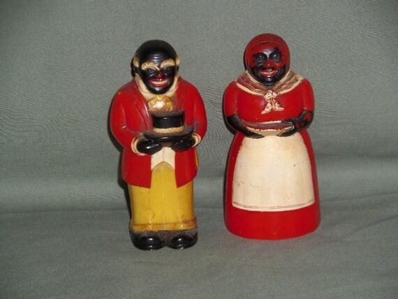 Vintage Aunt Jemima Uncle Moses Salt And Pepper Shaker Set