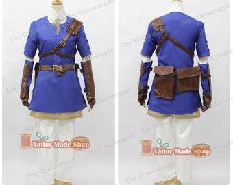 legend of zelda twilight princess Blue link cosplay costume Blue