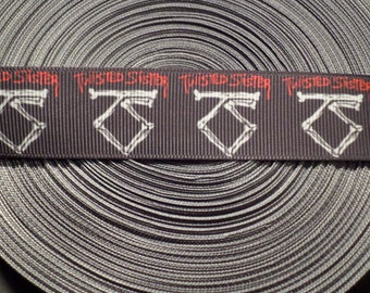 Twisted Sister Band Grosgrain Ribbon