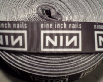Nine Inch Nails Band Grosgrain Ribbon