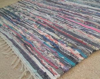 Perfect Rag Rug / Large Scrap Rag Rug / Multi Color Large Rag Rug / Area