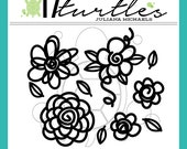 Floral Bouquet Digital Cut File | Perfect for all your craft projects including paper crafting, scrapbooking and more.