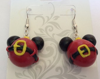 Mouse ornament earrings, mouse handmade polymer clay earrings jewelry