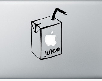Sticker Macbook - Apple Juice - Decal for MacBook Air Pro Retina - 11 12 13 15 or 17 inches - Skin for macbook easy to stick