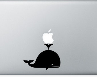 Stickers Macbook 11-13-15-17 inches - Whale