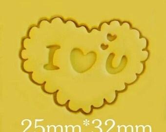 Mini Heart Soap Stamp Handmade Soap Stamp Love Resin Mold Love Soap Stamp Natural Soap Stamp