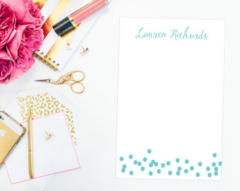 Personalized Confetti Notepad