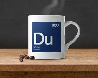 Duke University Periodic Table Coffee Mug