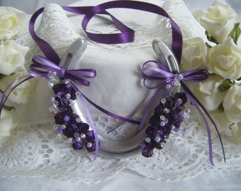 Wedding Bridal gift - real horse shoe hand decorated
