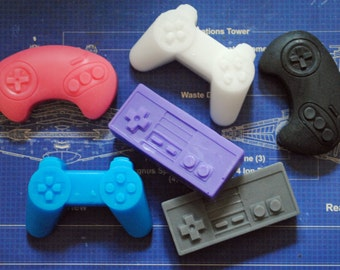 6 x Mini Computer Controller Soaps - Playstation, NES, Sega - Mini Controller Soaps