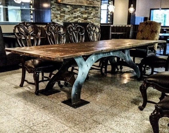 Reclaimed dining room table by brandreserveinc on etsy for Dining room tables etsy