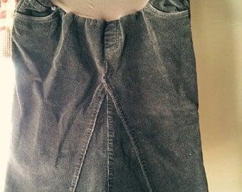 Below Knee Length Corduroy Maternity Skirt Size Small
