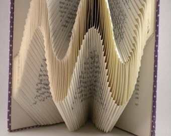 Waves Folded Book  - Paper Art - Wedding Decoration - Book Origami - Office/ Home decor - Sinus - Cosinus - E8