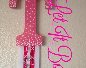 Hair bow hanger/cheer bow organizer