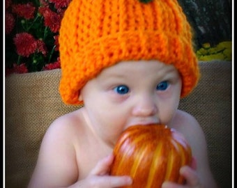 Crocheted Pumpkin hats