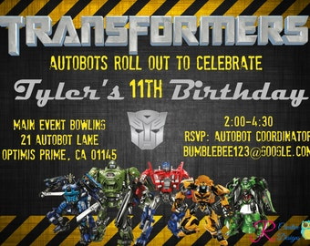 Transformers Inspired Party Invitation