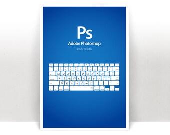 Photoshop Shortcuts Art Print - Poster - Many Sizes