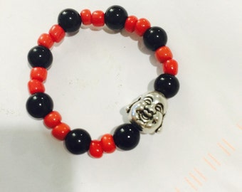 Buddha Bead & Azabache Bracelet