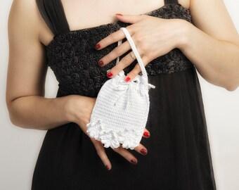 Crochet bridesmaid bag for vintage weddings bridal bag purse