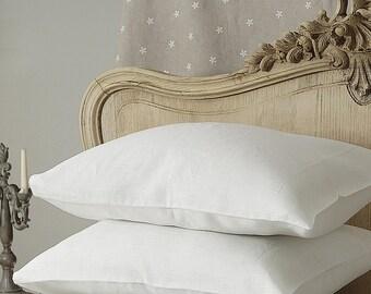 """Pair of pure linen pillowcases - set of 2 - linen beddding - 16x24"""" 20x24 20x26 20x30 20x36 26x26, flax linen euro sham"""