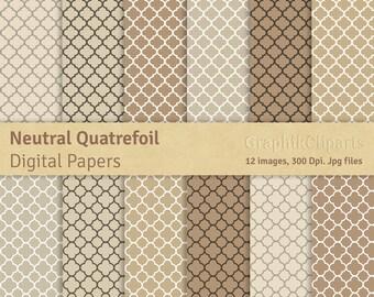 Quadrilobe beige etsy for Carrelage quadrilobe
