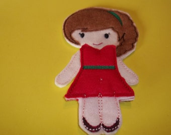 Felt Fairy Doll : Pretend Play , Dress Up , Gift , Party Favor ,Fairies