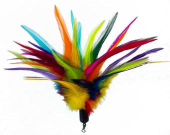 Feather Fluff Cat Toy with Bell Refill for Da Bird Pole by Whirley-Go!  Cats love it!