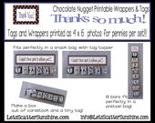 """Printable """"thank you""""  nugget wrappers and tags that help make the perfect thank you for that special guy!"""