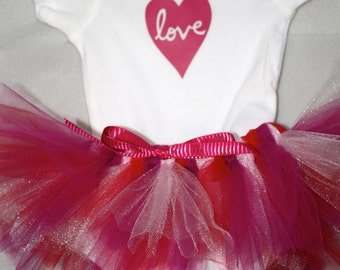 Love Bodysuit and Coordinating Tutu - Valentine's Day outfit