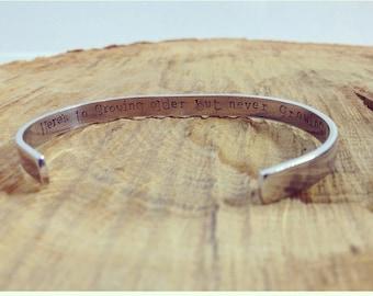 Custom Secret Message Aluminium Cuff Bracelet