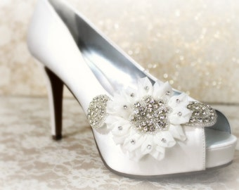 Bridal Lace Shoe Clips , Shoe Clips, lace shoe clip, bridal shoe clips,wedding shoe clips,rhinestone shoe clip