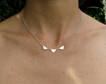 handmade Bunting necklace in Sterling Silver