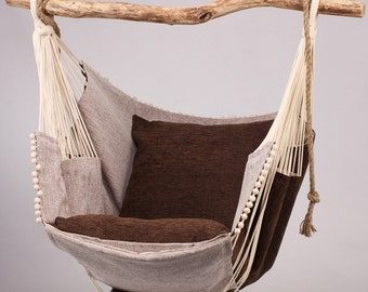 Hammock chair (brown/beige)
