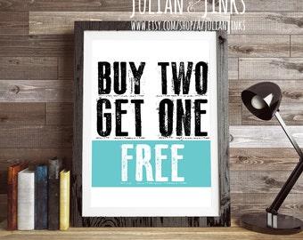 BUY 2 GET 1 FREE {any non custom prints} Julian & Jinks, printable