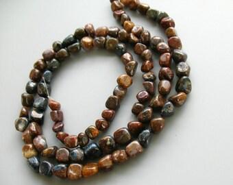 Raw natural pietersite beads rainbow natural pietersite stone crystals loose bead 9*7mm